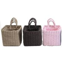 Buy cheap 100% handwoven S/3  home storage basket with paper rope material with handle, product