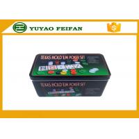Buy cheap 4g Plastic Poker Chips Sets Professional Poker Set Square Tin Box Packaging product