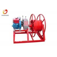 Buy cheap HONDA Gasoline Gas Engine Powered Winch , Cable Pulling Winch In Red Color product