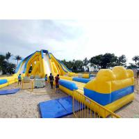 Buy cheap Amazing Inflatable Giant Slide Commercial Grade Yellow White Color 54*23*12.5m product