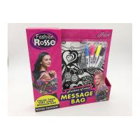 Buy cheap Pink Color 11 Inch DIY Drawing Message Bag With 4Pcs Bright Color Markers product