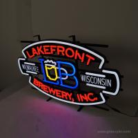 China Beer Lakefront Custom Neon Signs Brewery Personalized Advertising Neon Signs on sale