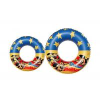 China Safety Plastic Inflatable Swimming Ring Logo Printing Swimming Pool Toys on sale