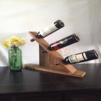 Buy cheap MDF Countertop Display Shelves Wooden Wine Bottle Holder DIY Gift product