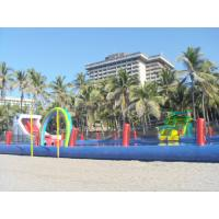 Buy cheap Durable Inflatable Water Park Slides With Big Pool For Beach Or Hotel product