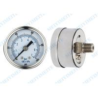 Buy cheap Precision 50mm back air pressure gauges dry standard with brass chrome connector product
