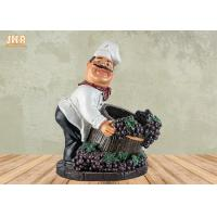 Buy cheap Chef Table Decor Polyresin Statue Figurine Resin Chef Wine Holder Small Chef Sculpture product