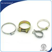 Buy cheap Galvanized Stainless Steel Hose Clamps Bright Zinc / Yellow Zinc Coated product