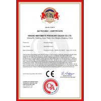 Ningbo Meiyi Meite Pressure Gauge Co., Ltd Certifications