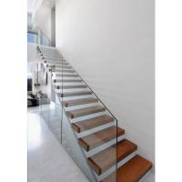 Buy cheap High quality indoor floating solid wood tread open stairs/staircases floating stair product