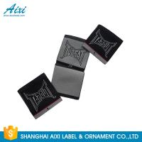 Buy cheap Black Color Personalized Custom Fabric Labels For Clothes , Logo Design product