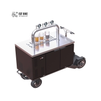 Buy cheap 300KG Load Stainless Steel Beer Bike Cart With R290 Refrigerant product