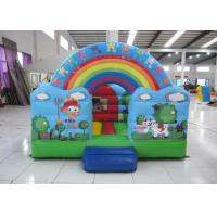 Buy cheap Outdoor Rainbow Farm Kids Inflatable Bounce House 0.55mm PVC 3 X 2m For Party product