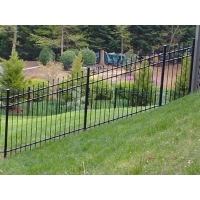 Buy cheap Galvanized Mountains Slopes Decorative Picket Fence product