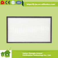 Buy cheap Mini-pleated HEPA Filter H13, H14 with Aluminum Frame for Cleanrooms, Labs, Air from wholesalers