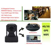 Buy cheap Live Monitoring 3g Wifi Gps Police Body Cameras , Body Worn Camera 1440p Resolution product