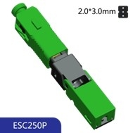 Buy cheap 50N Tensile FTTH 3.0mm SC APC Embedded Fiber Quick Connector product