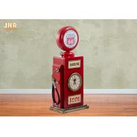Buy cheap Red Multimedia Storage Rack Decorative Wooden Cabinet Wood Tabletop Clock Red Color product