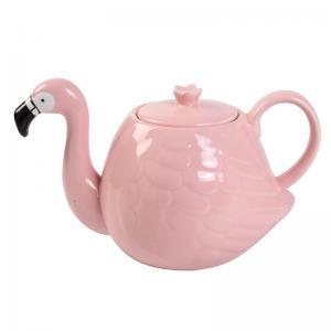 Buy cheap White Wedding 780ml Pot Flamingo Tea Set product