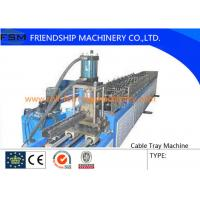 Buy quality 6 Tons Manual Cable Tray Roll Forming Machine 22 KW With 24 Forming Stations at wholesale prices