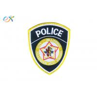 Buy cheap 100% Rayon Thread Police Embroidered Patch Polyester Material Iron On Patches For Clothes product