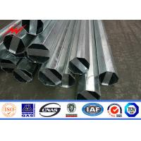 Buy cheap 15m 1000kg Breaking Load Steel Tubular Pole 4mm Thickness For Transmission from wholesalers