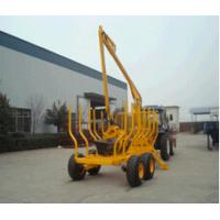 China supply tractor with crane and forestry log trailer for sale low cost good quality