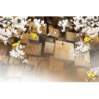 Fireproof Magnolia 3D Bamboo Wall Panels For Living Room Background Wall