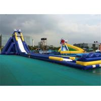 Buy cheap Amusement Park Huge Inflatable Water Slide 0.55mm Thickness PVC Material product