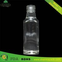 188ml Blown Square Glass Bottle for Gin