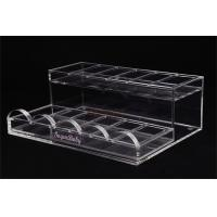 Buy cheap Acrylic Retail Display StandsNail Polish ShelfClear 285×215×100 Mm For Makeup Shop product