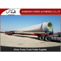 Buy cheap 60 Ton Load Extendable Lowboy Semi Trailer , Wind Blade Transport Low Loader Trailer product