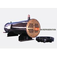 Buy cheap 122KW Industrial Shell And Tube Water Cooled Condenser , Refrigerator Condenser Tube product