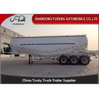 Quality V Shape Bulk Cement Tanker Trailer With Diesel Engine FUWA / BPW Axle for sale