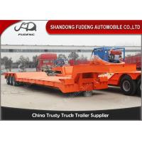 Buy cheap Front Load Removable  Gooseneck Low Flatbed Trailer 100 Tons 3 Axles product
