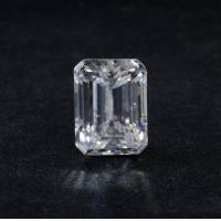 Buy cheap Genuine 3 Ct VVS1 Emerald Cut DEF Super White Loose Moissanite Diamond 9x7 Mm product