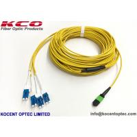 Buy cheap 40G Data Center MTP Trunk Patch Cable MPO - LC Duplex Uniboot 8 12 24 Core PVC from wholesalers