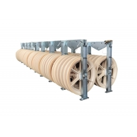 Buy cheap 1160mm Conductor Stringing Wire Rope Pulley Blocks from wholesalers