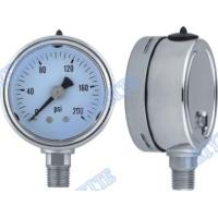 Buy cheap Shockproof 304 stainless steel pressure gauge , sealing , glycerin 2.5 Inch bottom product