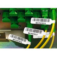 Buy cheap Strong Adhesive Plastic Cable Labels Vinyl Cable Tags With Electric Wire Label product