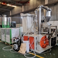 Buy cheap 600kg/H 10mm HDPE Pulverizer With Air Cooled Chiller from wholesalers
