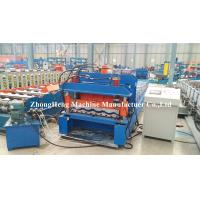 Buy cheap Cold Rolled Panel Roofing Sheet Roll Forming Machine With Adjustable Feeding Table product