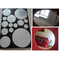 Buy cheap 3mm Round Eco-Friendly Mirror Acrylic Sheet By Laser Cutting For Indoor Home Decoration from wholesalers