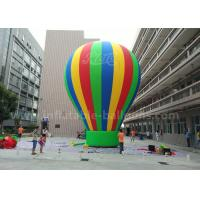 Customized 8m Advertisement Colorful Ground Balloon Inflatable With Banner Printing Manufactures
