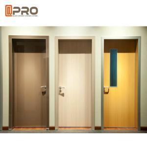 China Fire Resistance MDF Interior Doors Flat Insert Shape For Kindergarten Room on sale