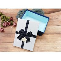 Buy cheap Customized Rectangle Cardboard Jewellery Boxes With Ribbon Bowknot , Rectangle Shape product