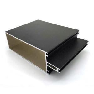 Buy cheap Machined Cnc Grey Powder Coating Aluminum Profiles for Glass Doors Windows Curtain Wall product