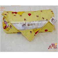 China Bright Color Silk Baby Comforter Bedding Sets on sale