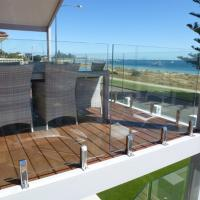 Buy cheap Hot Sale Tempered Clear Glass Railing with Stainless Steel Spigot product