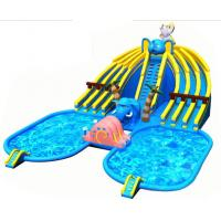 Buy cheap Ground Amazing Inflatable Amusement Park 25*20*8.5m With Two Small Pools product